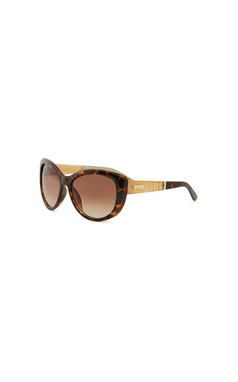 Karen Millen, TORTOISESHELL CAT EYE SUNGLASS Brown 0