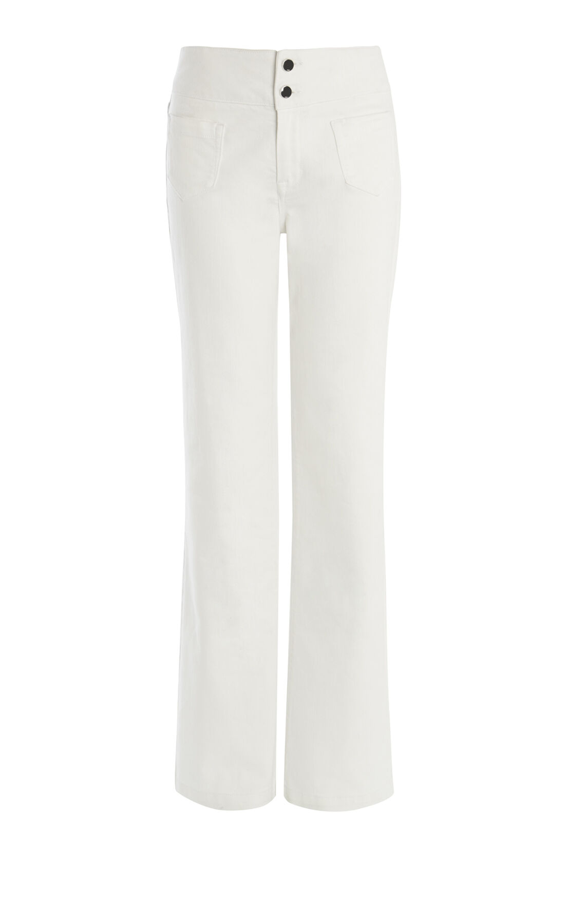 Karen Millen, HIGH-WAISTED FLARED JEAN White 0