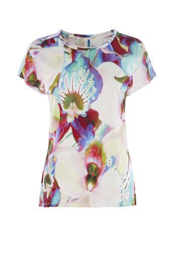 Karen Millen, ORCHID-PRINT T-SHIRT Multicolour 0