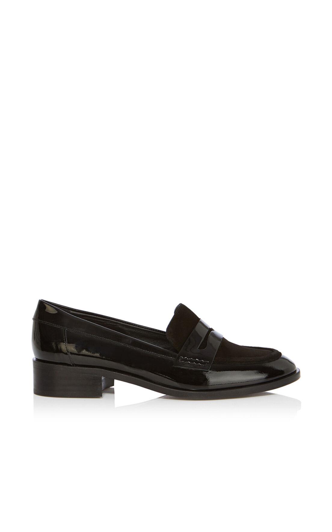 Karen Millen, Patent penny loafer Black 0