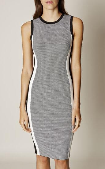 Karen Millen, ATHLETIC KNIT DRESS Black & White 2
