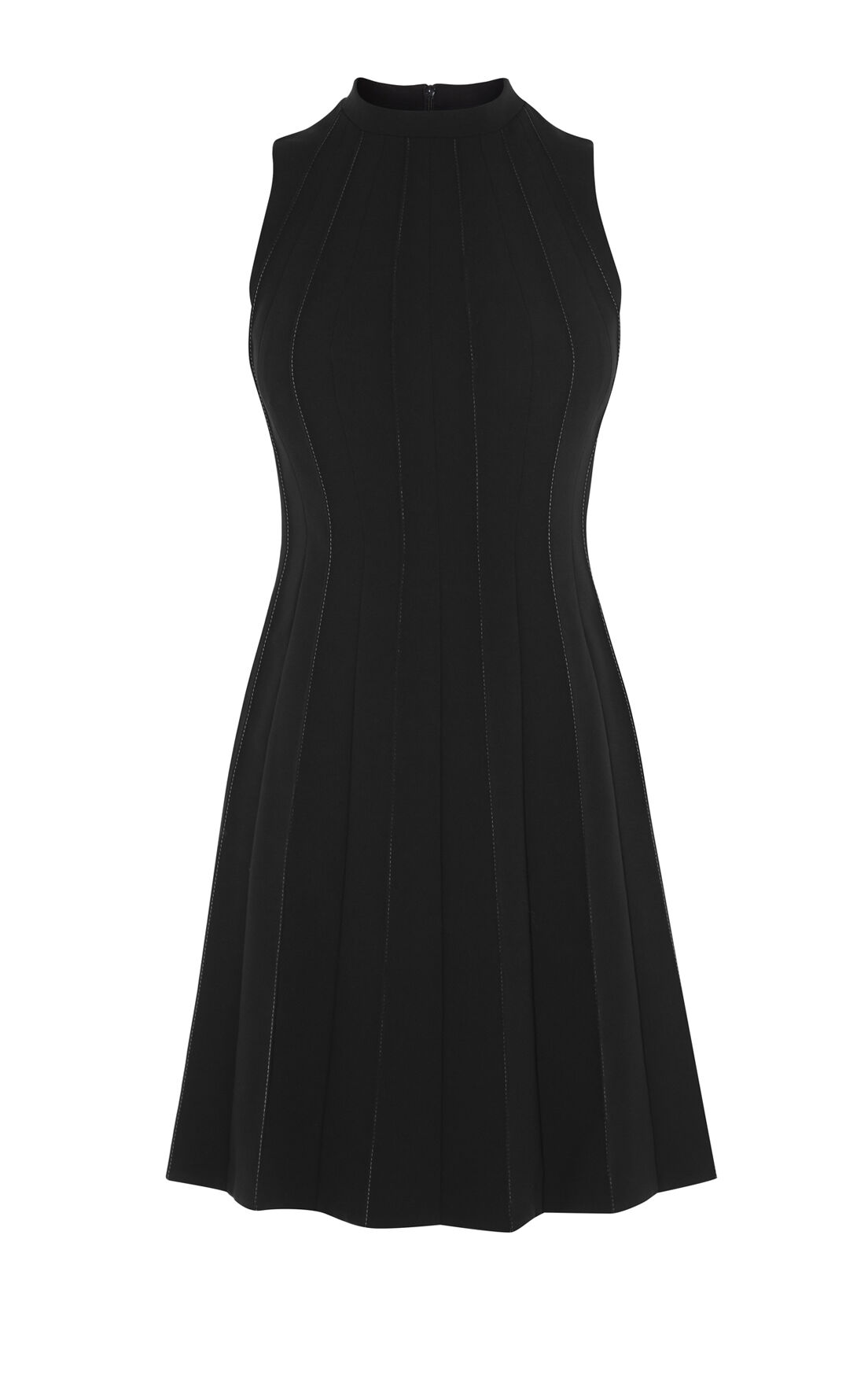 Karen Millen, SEAM-DETAIL DRESS Black 0