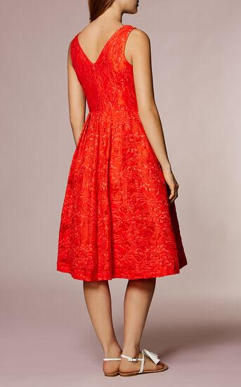 Karen Millen, DEVORE PROM DRESS Orange 3