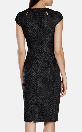 Karen Millen, CUTOUT TEXTURED DRESS Black 3