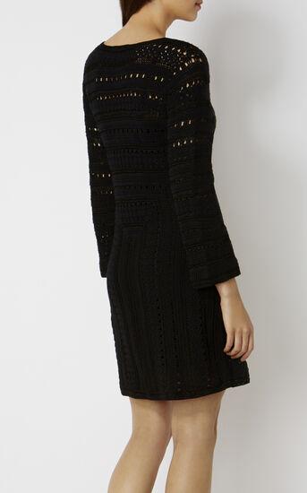 Karen Millen, CROCHET DRESS Black 3