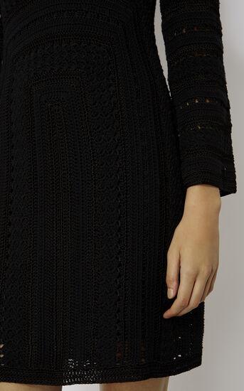 Karen Millen, CROCHET DRESS Black 4