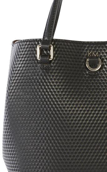 Karen Millen, EMBOSSED MINI BUCKET BAG Black 5