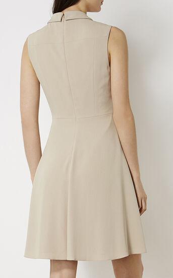 Karen Millen, KNOT-WAIST SHIRT DRESS Neutral 3
