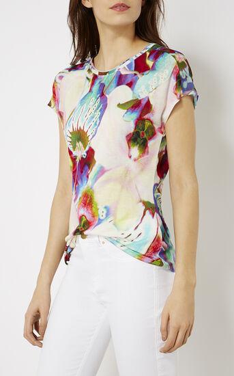 Karen Millen, ORCHID-PRINT T-SHIRT Multicolour 2
