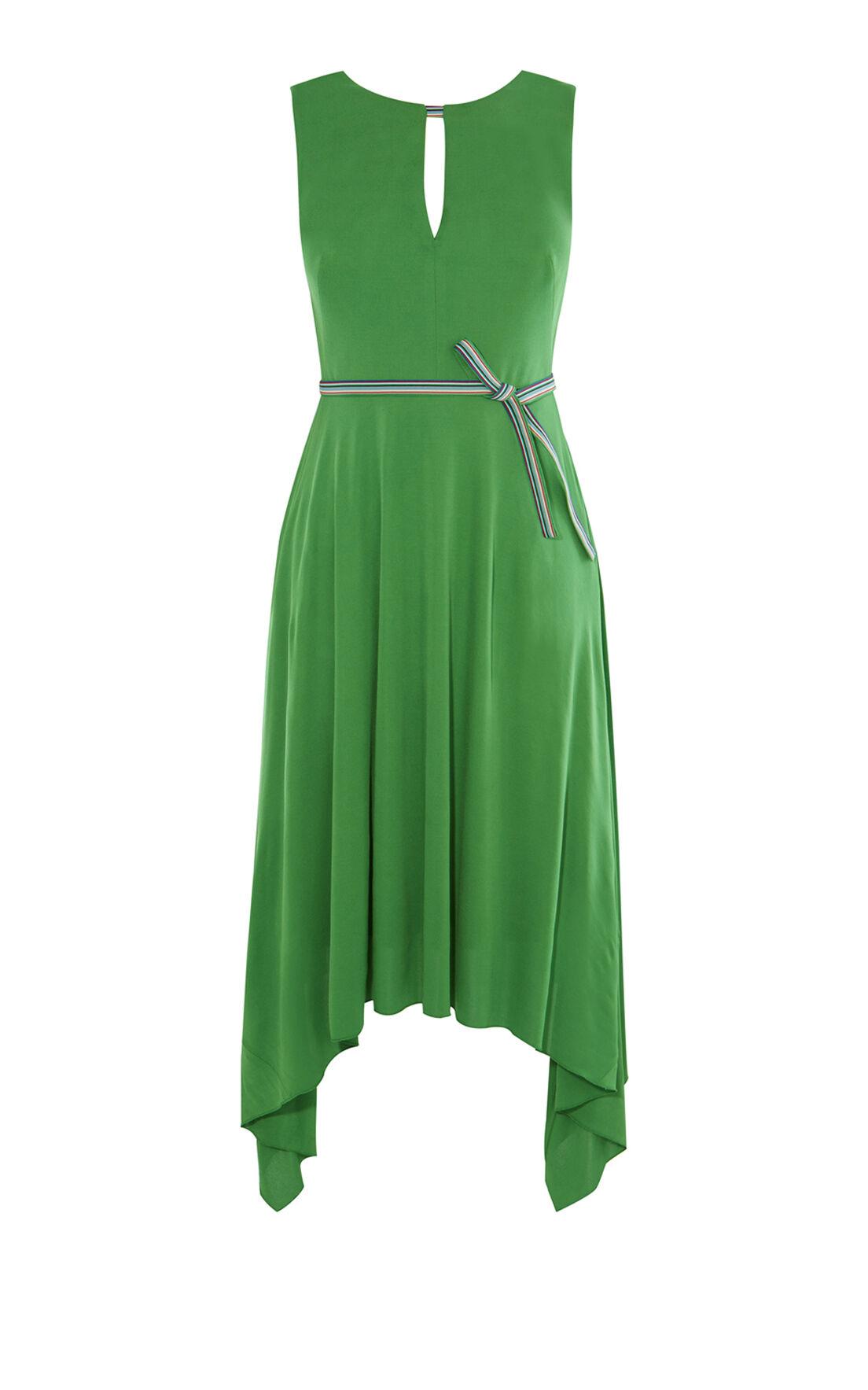 Karen Millen, FLUID GREEN DRESS Green 0