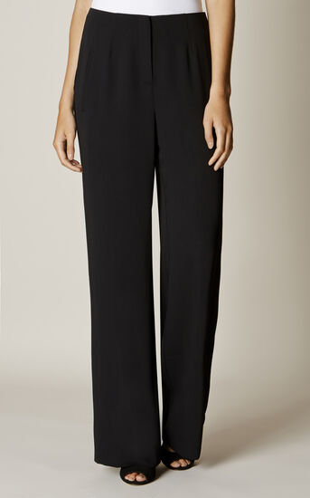 Karen Millen, WIDE-LEG TROUSERS Black 2