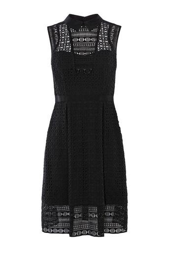 Karen Millen, BRODERIE SHIRT DRESS Black 0
