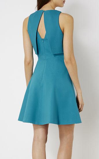 Karen Millen, CROP-DETAIL DRESS Turquoise 3