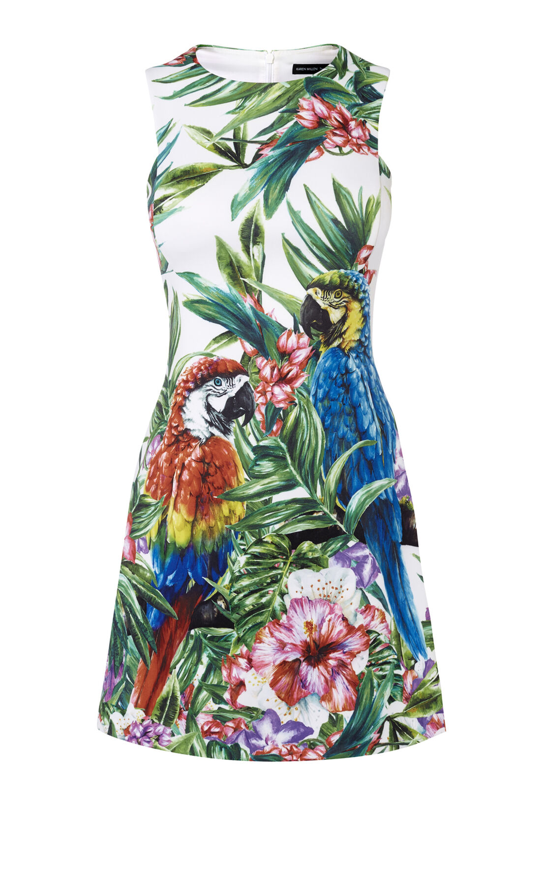 Karen Millen, BOTANICAL-PRINT SCUBA DRESS Multicolour 0