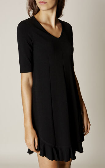 Karen Millen, FRILL-HEM DRESS Black 2
