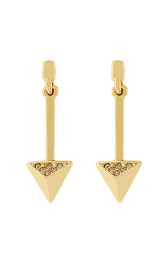 Karen Millen, Arrow drop earrings Gold Col 0