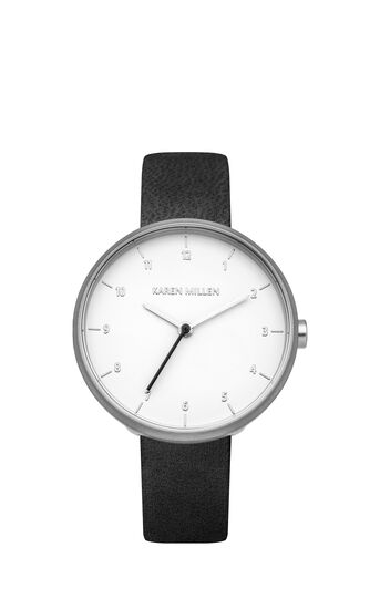 Karen Millen, MINIMAL LEATHER WATCH Black 0