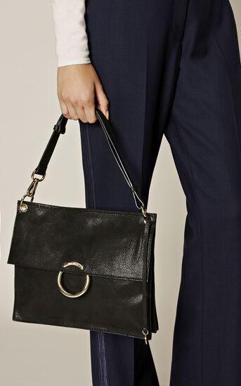Karen Millen, O RING SHOULDER BAG Black 1