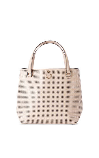 Karen Millen, PERFORATED BUCKET BAG Nude 0