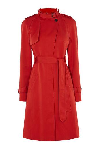 Karen Millen, RED TRENCH COAT Red 0