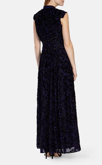 Karen Millen, PURPLE TEXTURE MAXI DRESS Purple 3