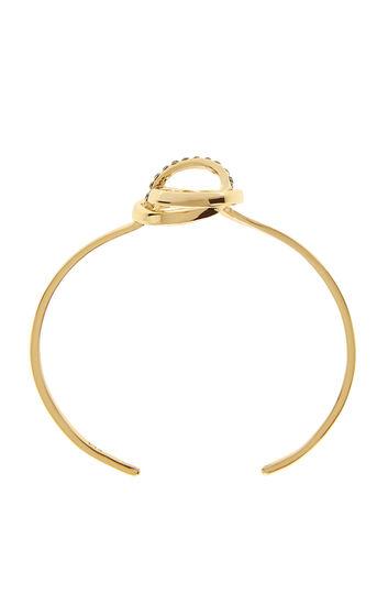 Karen Millen, Crystal Ribbon Cuff Gold Colour 2