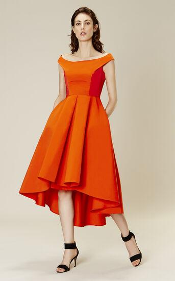 Karen Millen, OFF-THE-SHOULDER PROM DRESS Red 1