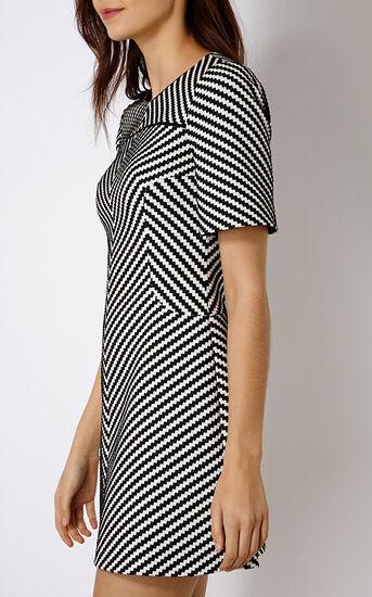 Karen Millen, ZIG ZAG STRIPE DRESS Blk&Wht 2