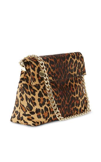 Karen Millen, REGENT SUEDE AND LEATHER BAG Leopard Print 3