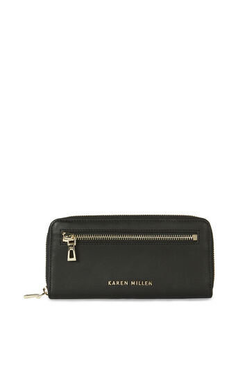 Karen Millen, ZIP PURSE Black 0
