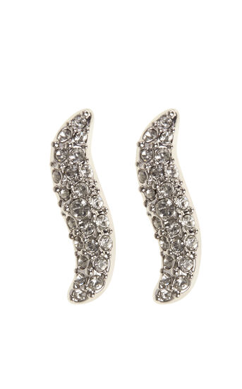 Karen Millen, ZZ024 Pave Wave Stud Earrings KM 0