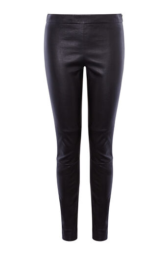Karen Millen, LEATHER LEGGING Black 0