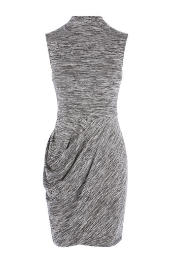 Karen Millen, DRAPED MELANGE DRESS Grey/Multi 0