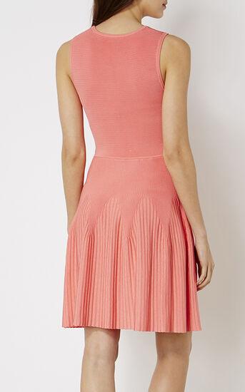 Karen Millen, RIBBED KNIT DRESS Pink 3