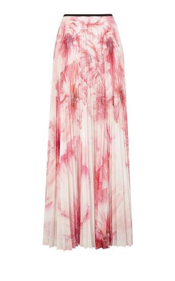 Karen Millen, FLORAL-PRINT MAXI SKIRT Pink 0