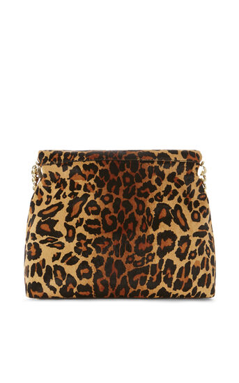 Karen Millen, REGENT SUEDE AND LEATHER BAG Leopard Print 2