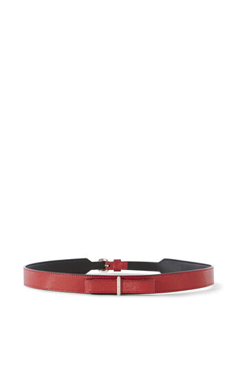 Karen Millen, LEATHER BOW WAIST BELT Red 0