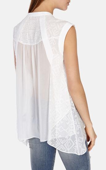 Karen Millen, Softly tailored embroidered vo White 3