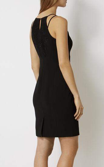 Karen Millen, FLORAL-APPLIQUÉ PENCIL DRESS Black 3