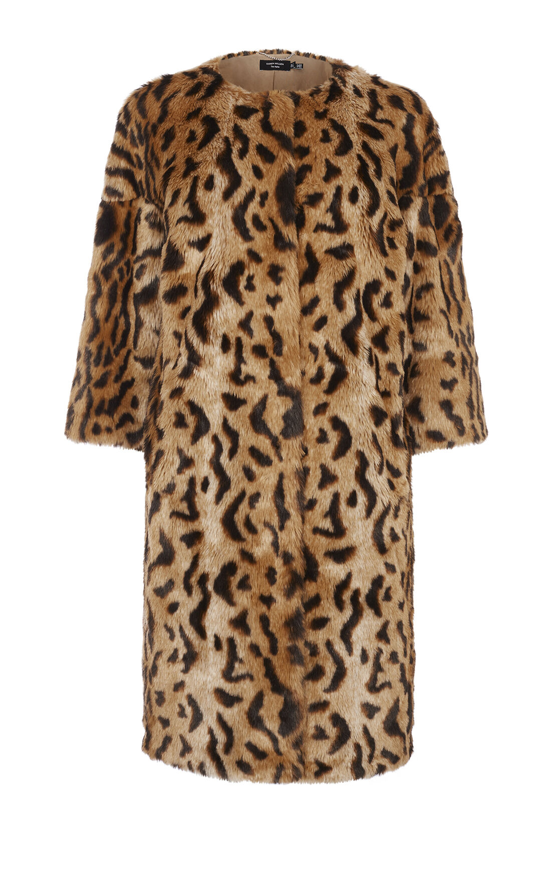 Karen Millen, LEOPARD PRINT FAUX FUR COAT Leopard Print 0