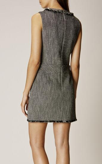 Karen Millen, TWEED DRESS Black/Multi 3