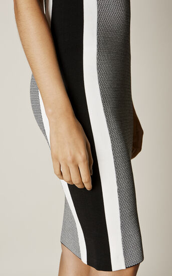 Karen Millen, ATHLETIC KNIT DRESS Black & White 4