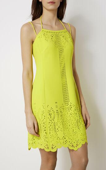 Karen Millen, LASER-CUTWORK DRESS Lime 2