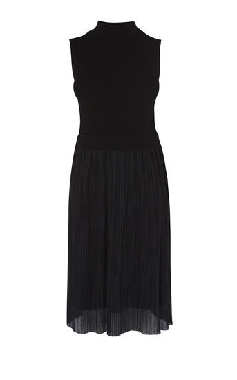 Karen Millen, PLEAT-SKIRT DRESS Black 0