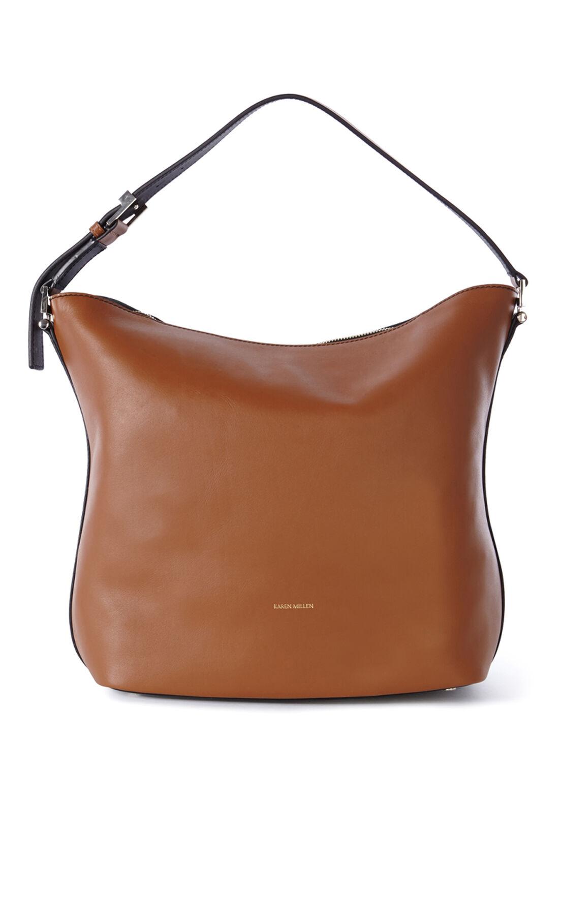 Karen Millen, BROWN LEATHER SLING BAG Multi 0