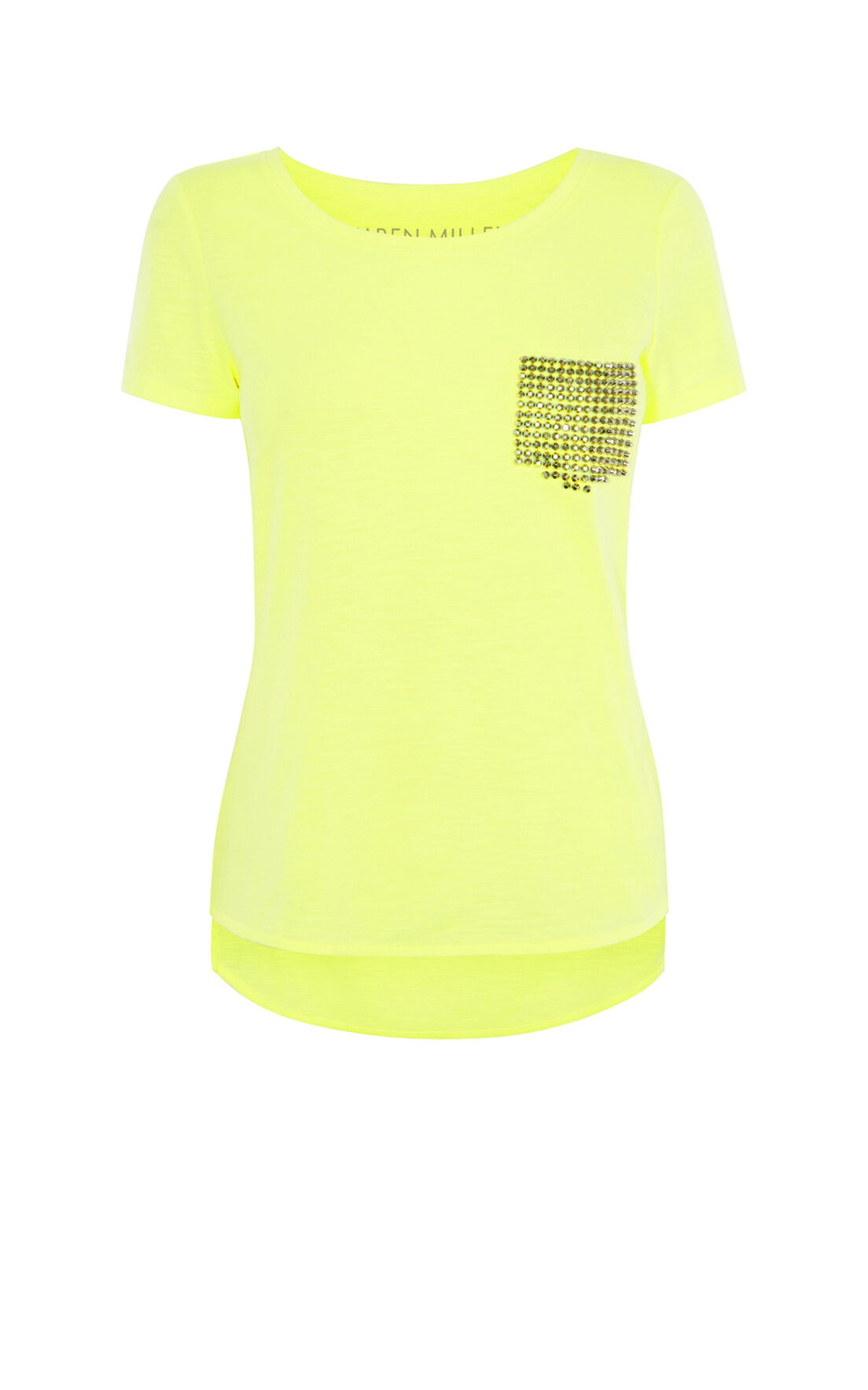 Karen Millen, STUDDED T-SHIRT Lime 0