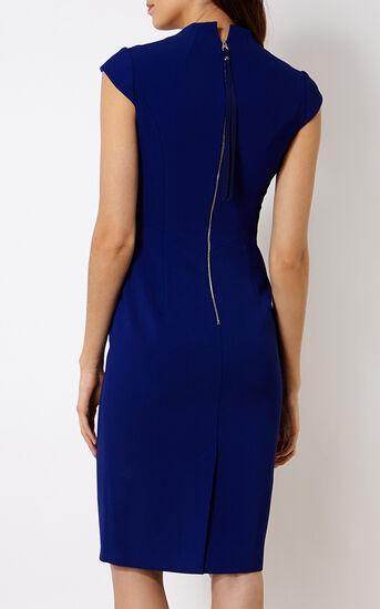 Karen Millen, V-NECK DRESS Blue 3