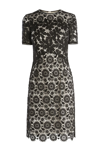 Karen Millen, LACE PENCIL DRESS Black/Multi 0