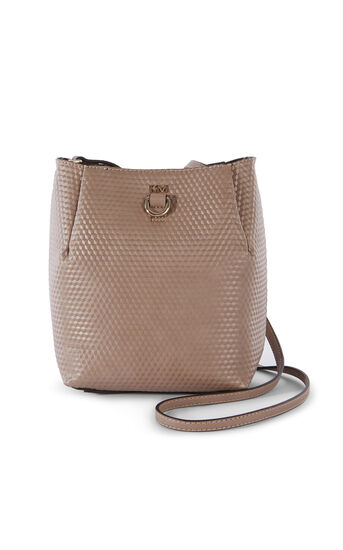 Karen Millen, EMBOSSED SQUARE BAG Nude 0