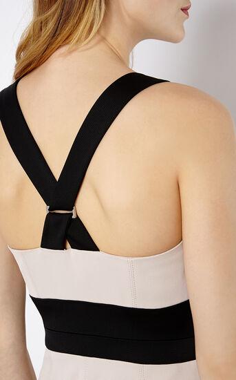 Karen Millen, CROSS-OVER STRAP DRESS Nude 4